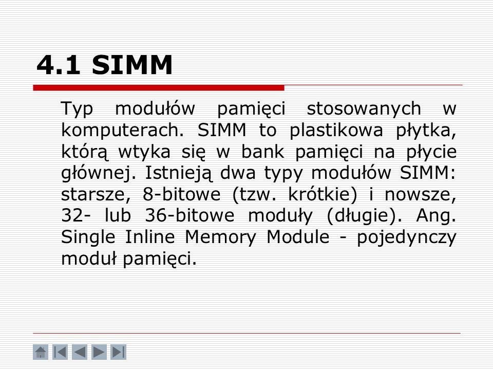 4.1 SIMM
