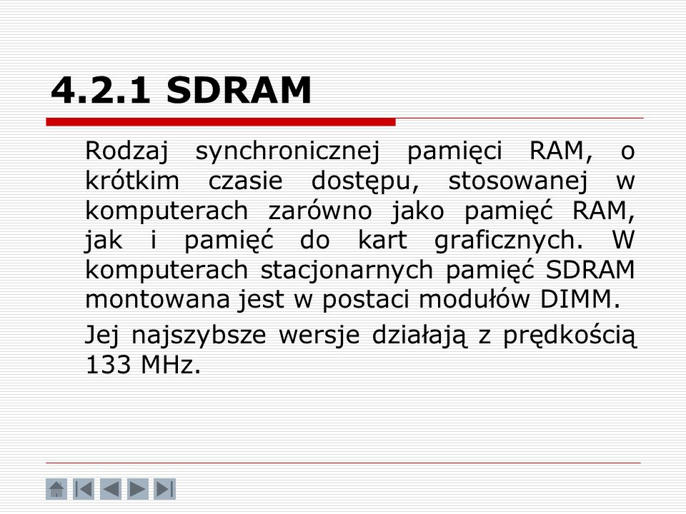 4.2.1 SDRAM