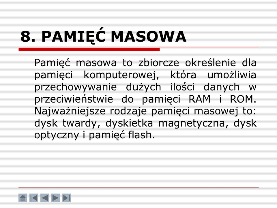 8. PAMIĘĆ MASOWA