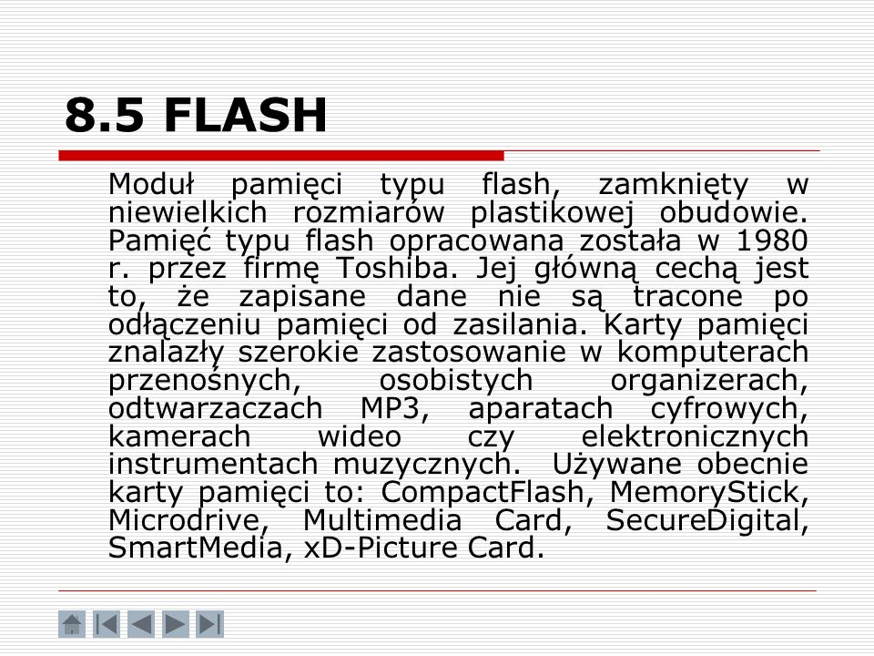 8.5 FLASH