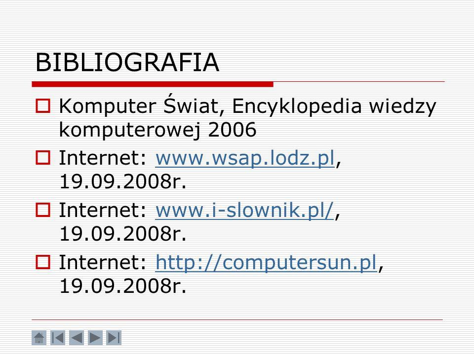 BIBLIOGRAFIA Komputer Świat, Encyklopedia wiedzy komputerowej 2006