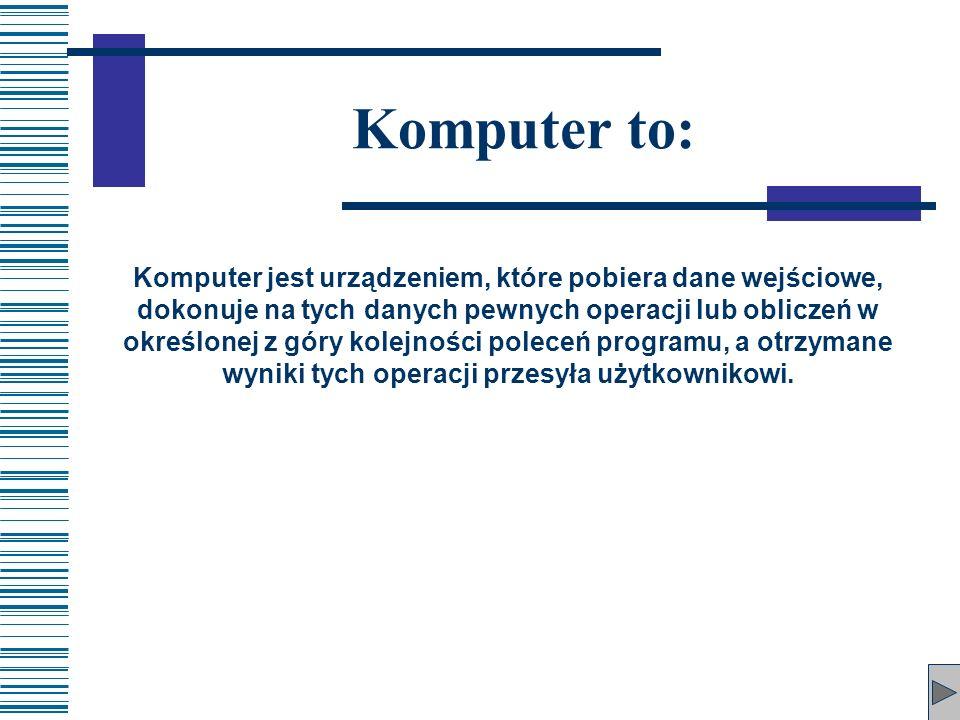 Komputer to: