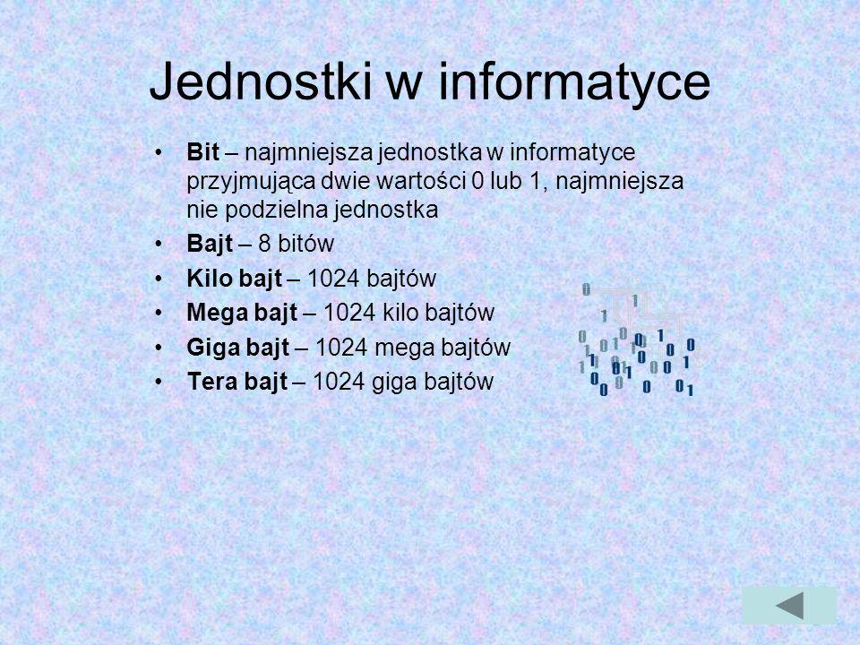 Jednostki w informatyce