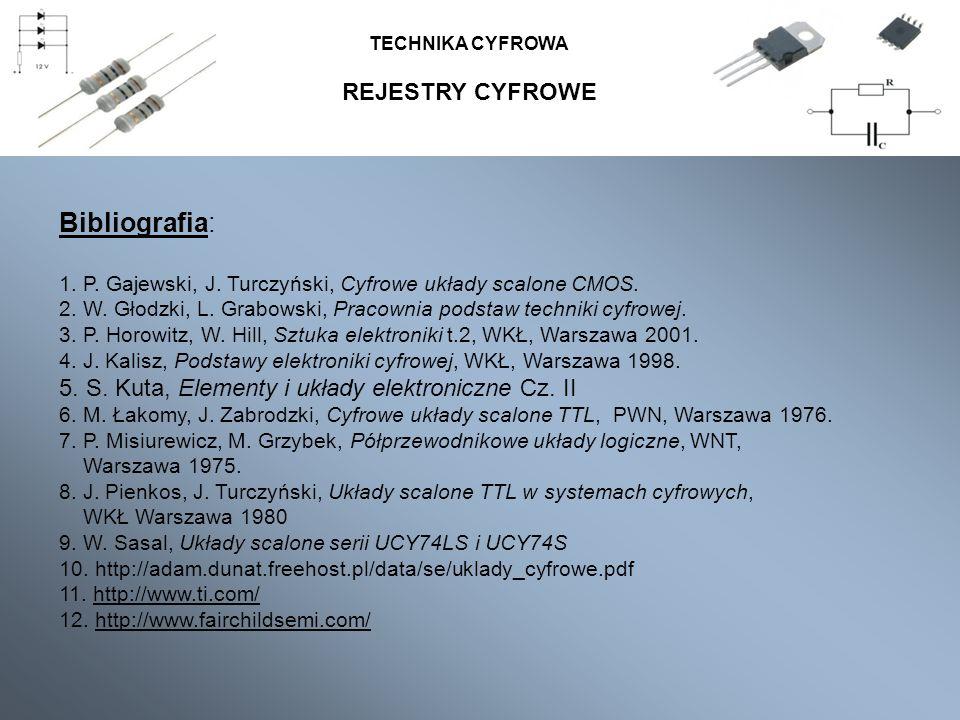 Bibliografia: REJESTRY CYFROWE