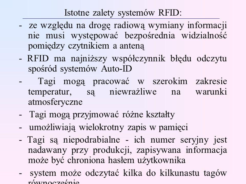Istotne zalety systemów RFID: