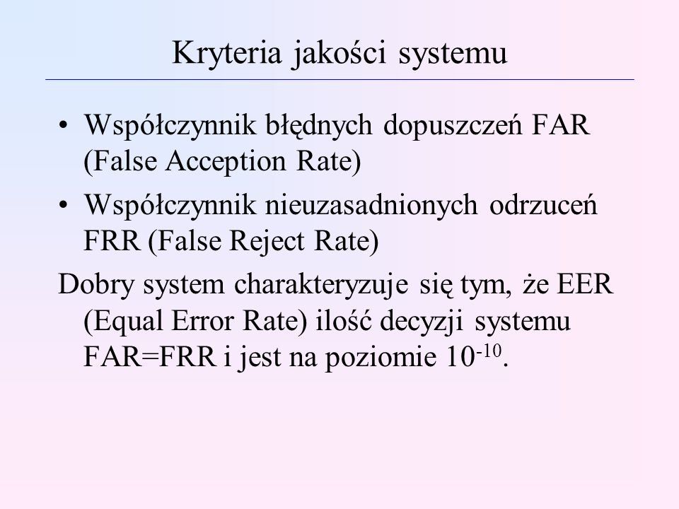 Kryteria jakości systemu