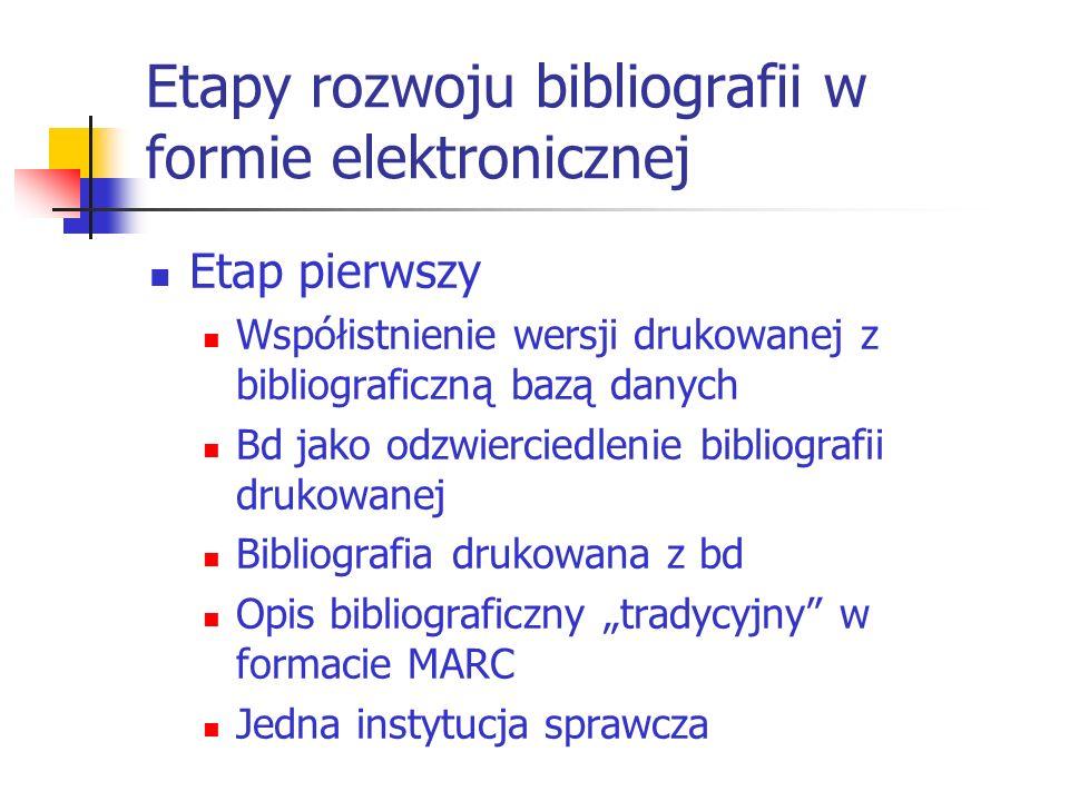 Etapy rozwoju bibliografii w formie elektronicznej