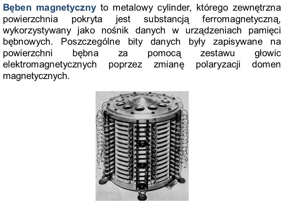 Bęben magnetyczny to metalowy cylinder, którego zewnętrzna powierzchnia pokryta jest substancją ferromagnetyczną, wykorzystywany jako nośnik danych w urządzeniach pamięci bębnowych.