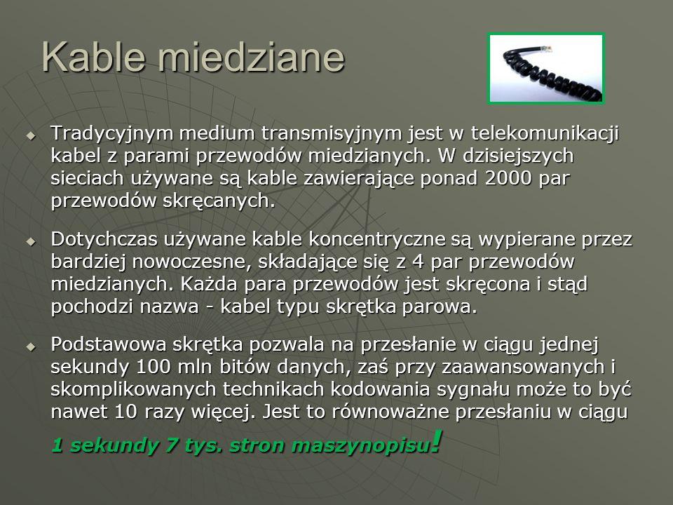 Kable miedziane