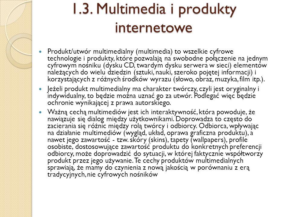 1.3. Multimedia i produkty internetowe