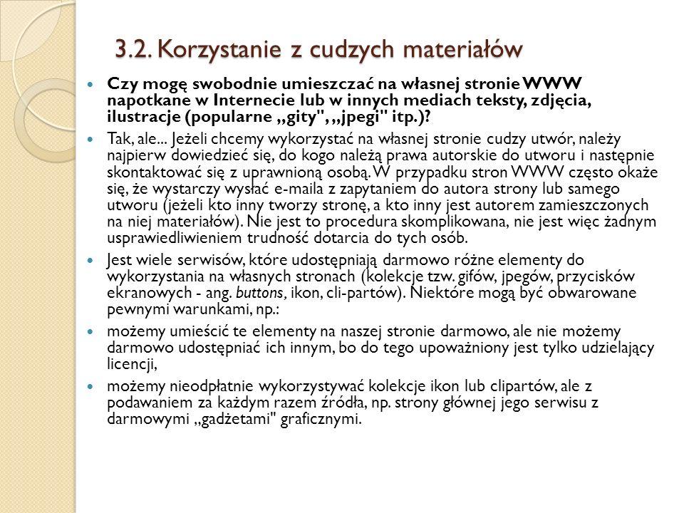 3.2. Korzystanie z cudzych materiałów