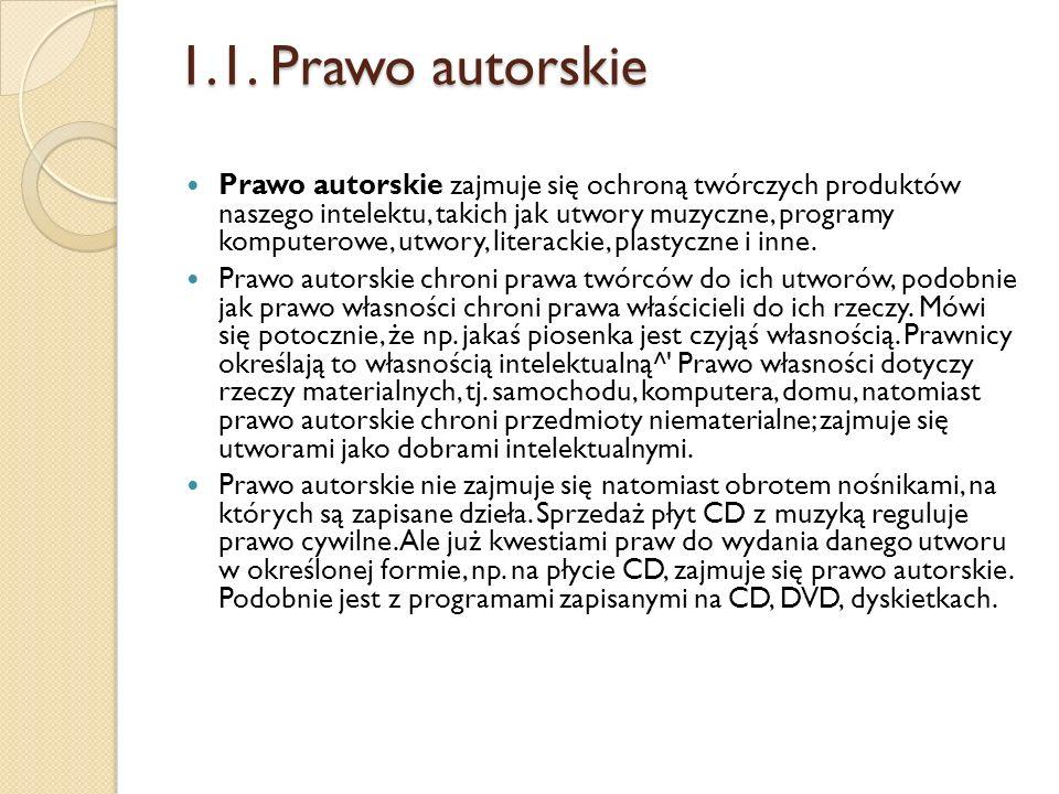1.1. Prawo autorskie