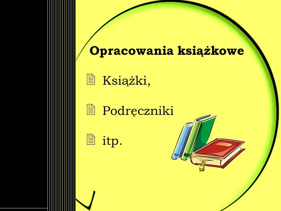 Opracowania książkowe