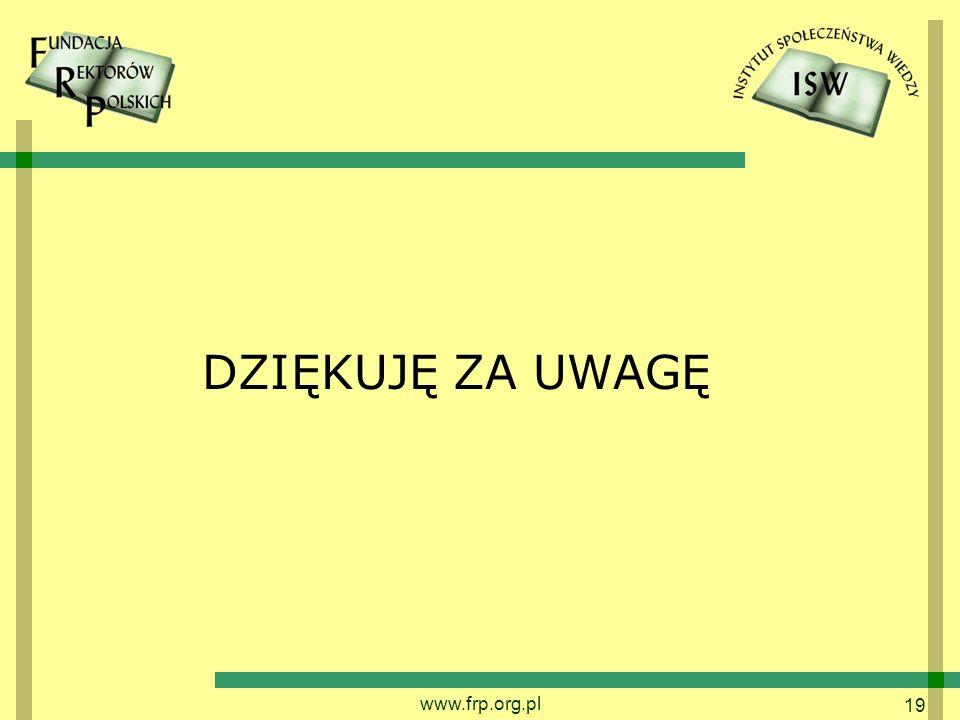 DZIĘKUJĘ ZA UWAGĘ www.frp.org.pl
