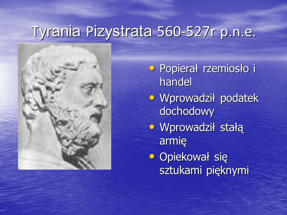Tyrania Pizystrata 560-527r p.n.e.
