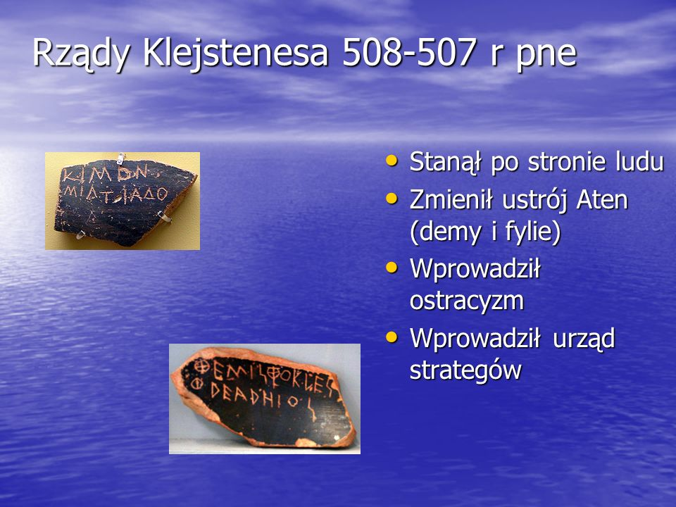 Rządy Klejstenesa 508-507 r pne