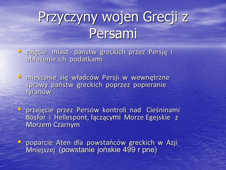Przyczyny wojen Grecji z Persami