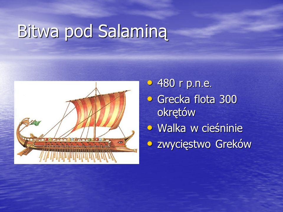 Bitwa pod Salaminą 480 r p.n.e. Grecka flota 300 okrętów