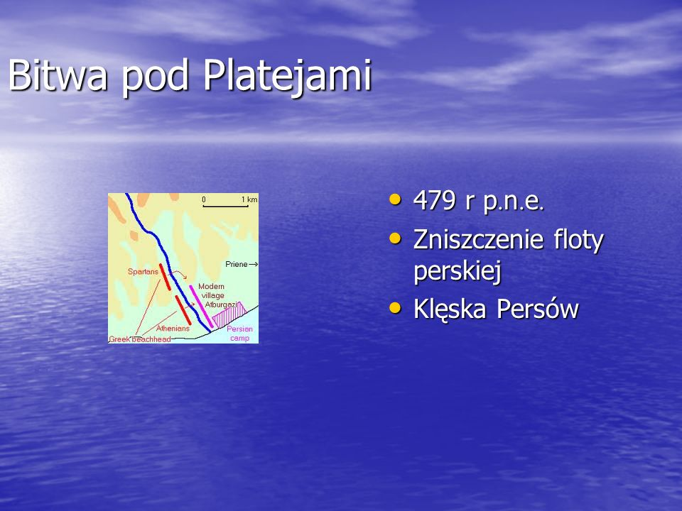 Bitwa pod Platejami 479 r p.n.e. Zniszczenie floty perskiej