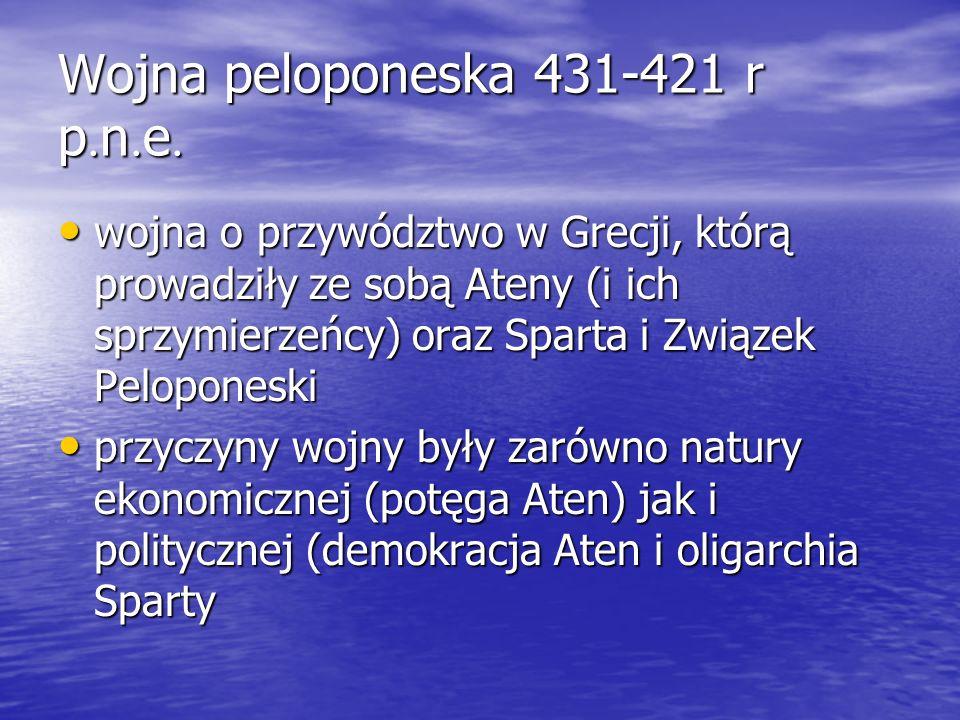 Wojna peloponeska 431-421 r p.n.e.