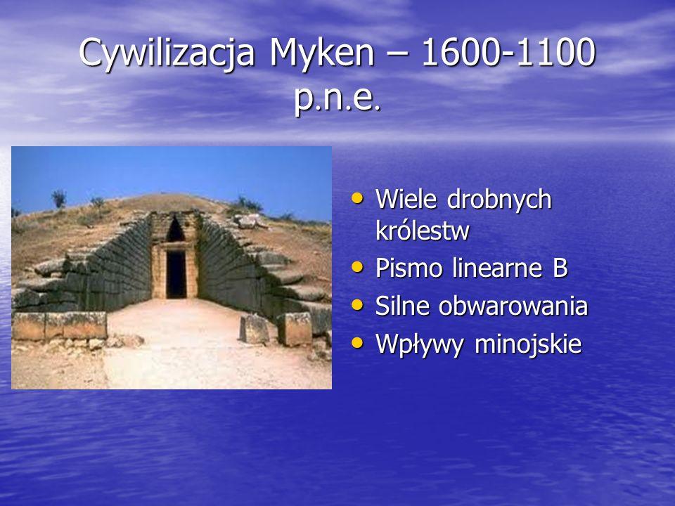 Cywilizacja Myken – 1600-1100 p.n.e.