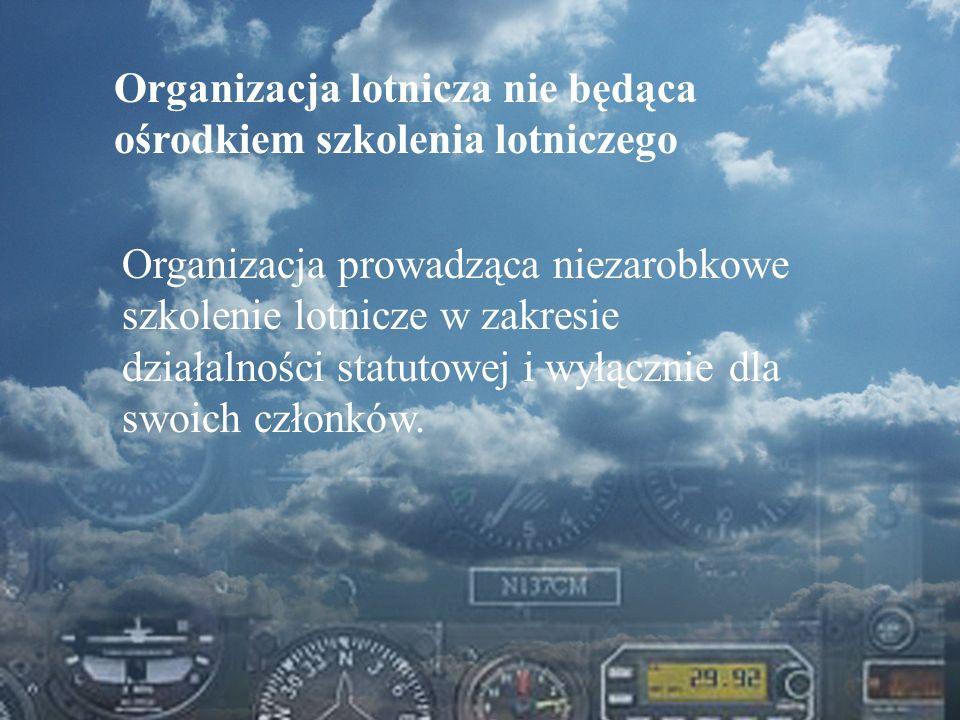 Organizacja lotnicza nie będąca ośrodkiem szkolenia lotniczego