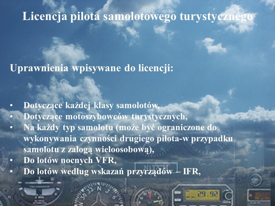 Licencja pilota samolotowego turystycznego