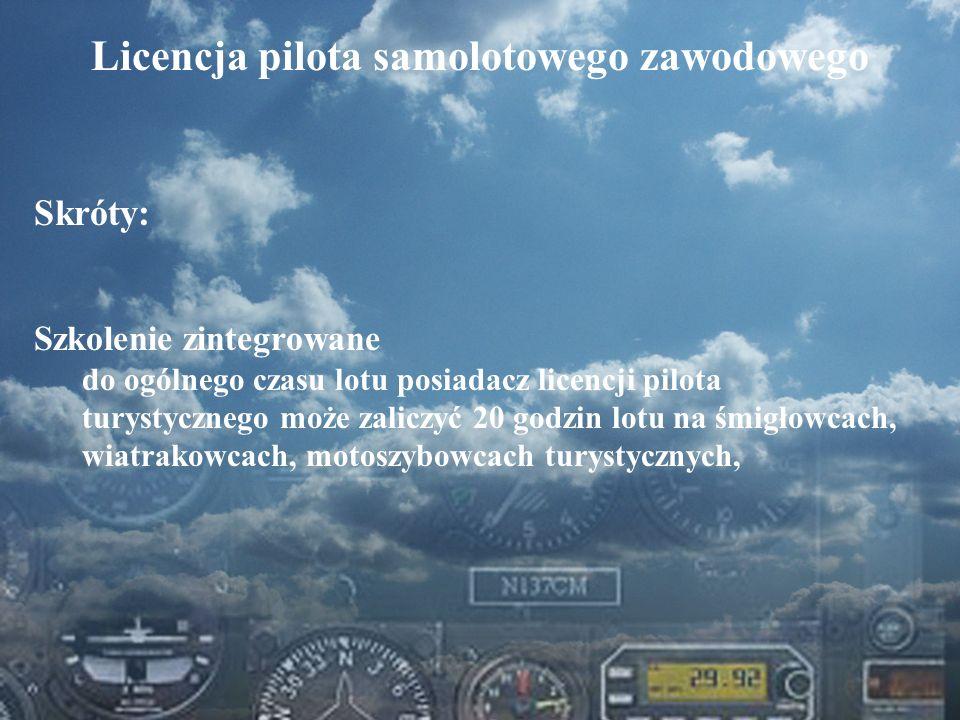 Licencja pilota samolotowego zawodowego