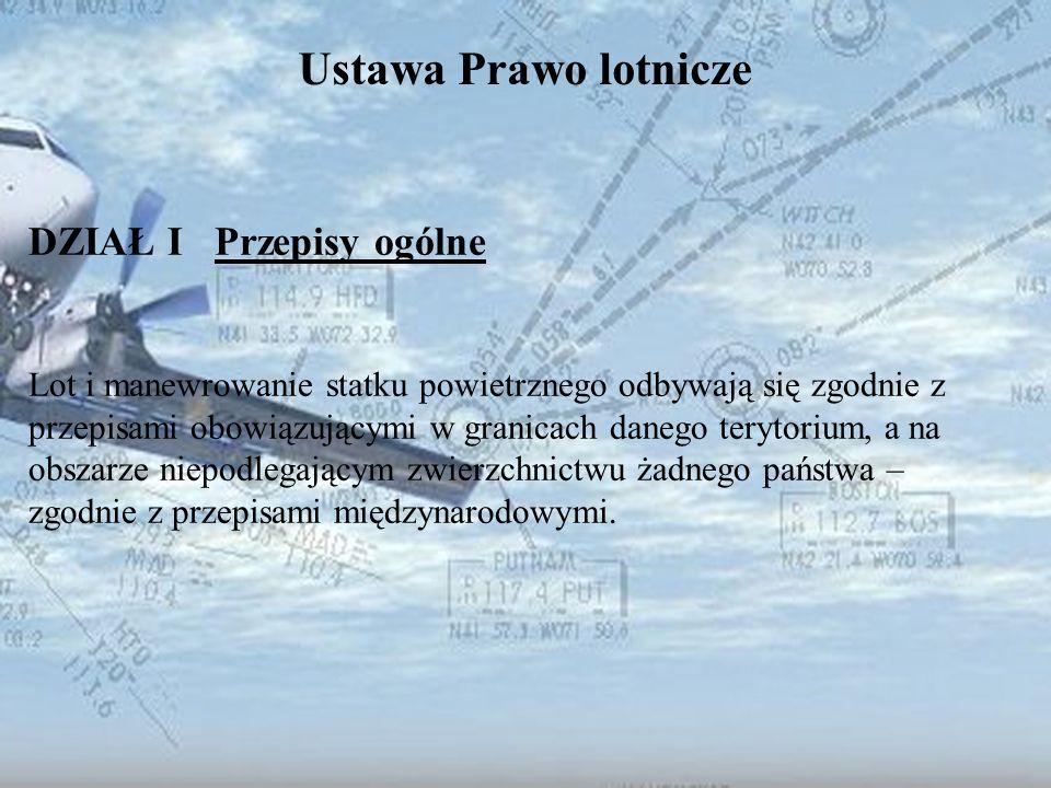 Ustawa Prawo lotnicze