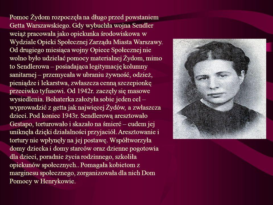 Pomoc Żydom rozpoczęła na długo przed powstaniem Getta Warszawskiego