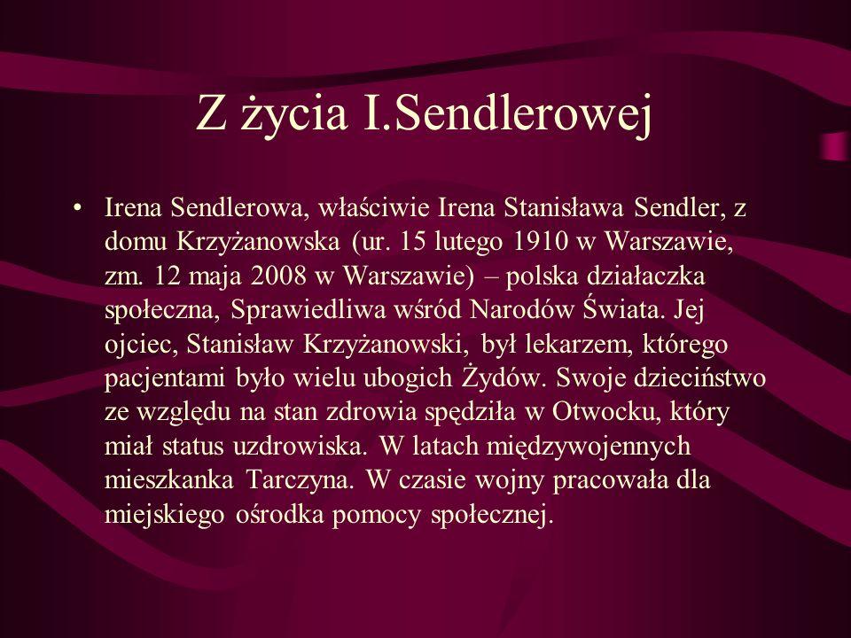 Z życia I.Sendlerowej