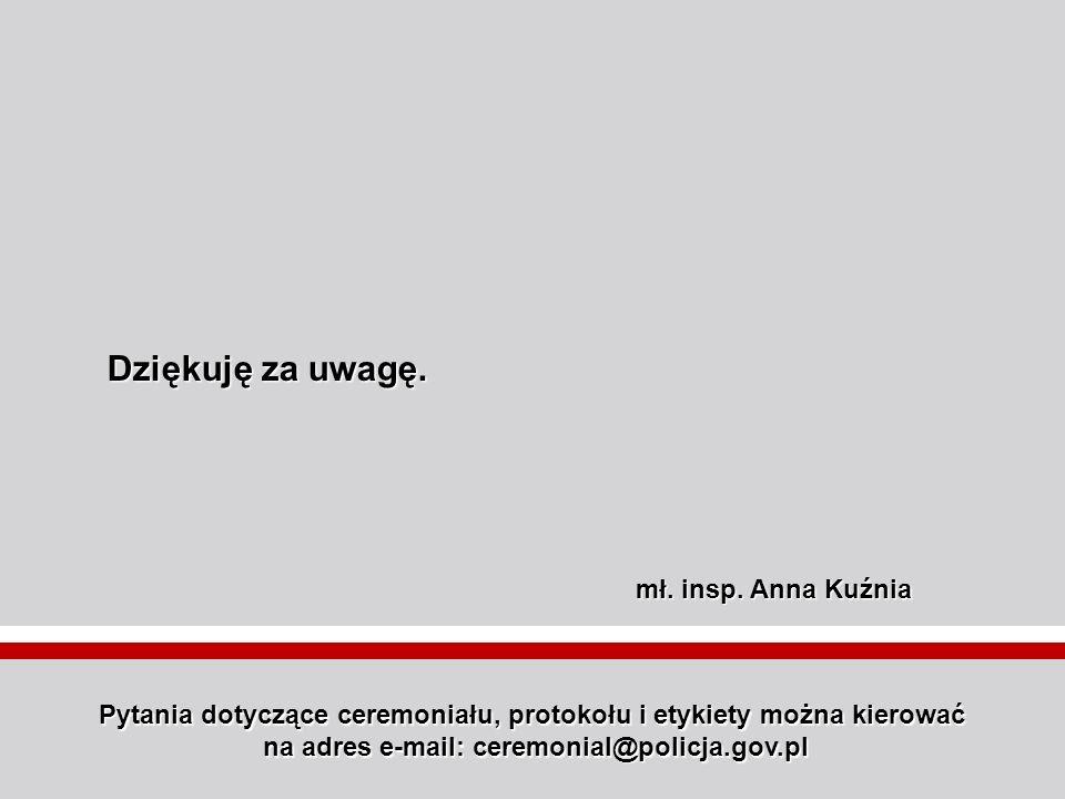 Dziękuję za uwagę. mł. insp. Anna Kuźnia