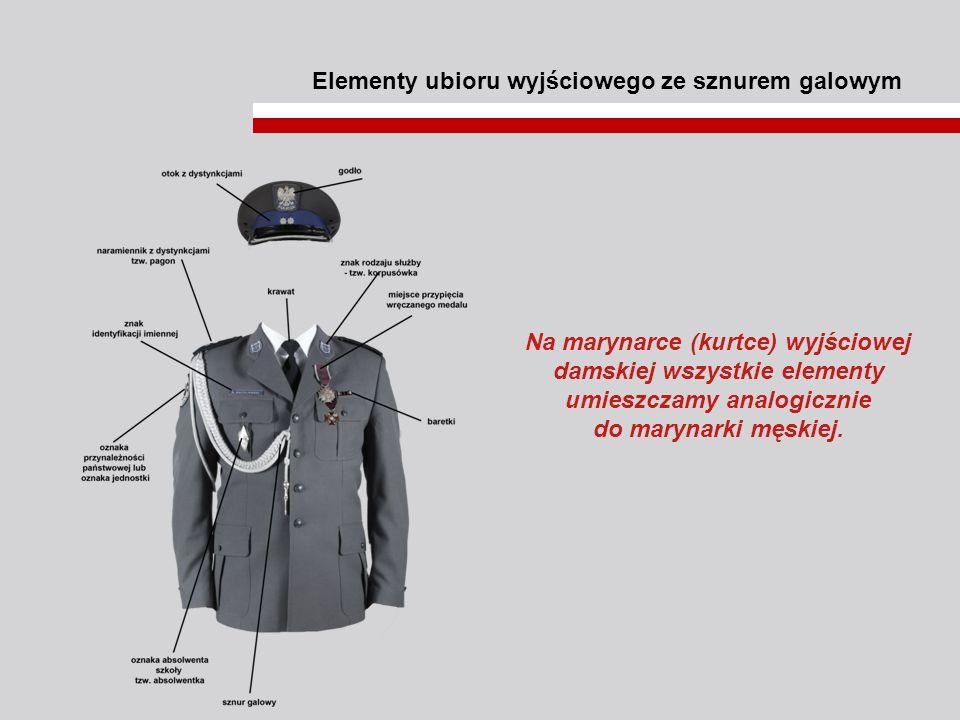 Elementy ubioru wyjściowego ze sznurem galowym