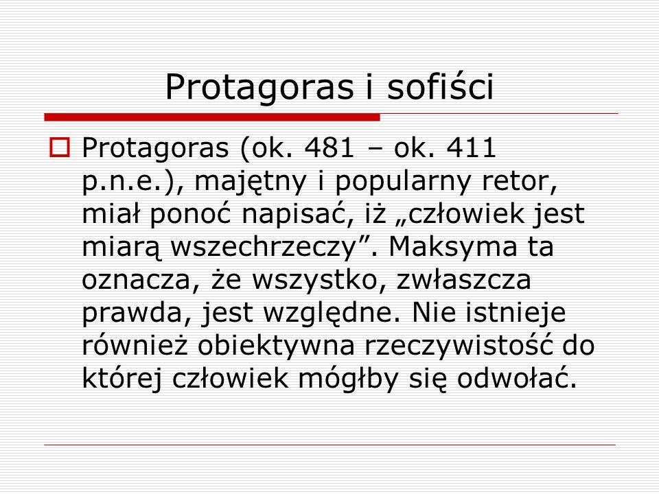 Protagoras i sofiści