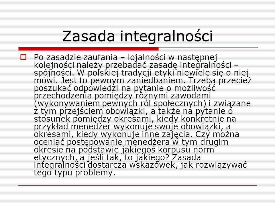 Zasada integralności