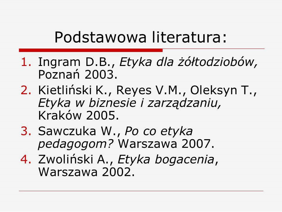Podstawowa literatura: