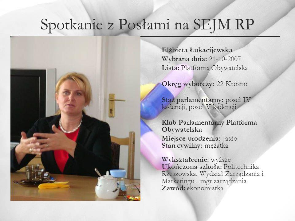 Spotkanie z Posłami na SEJM RP