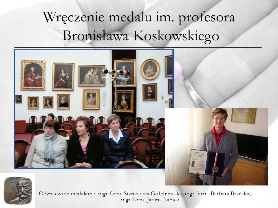 Wręczenie medalu im. profesora Bronisława Koskowskiego