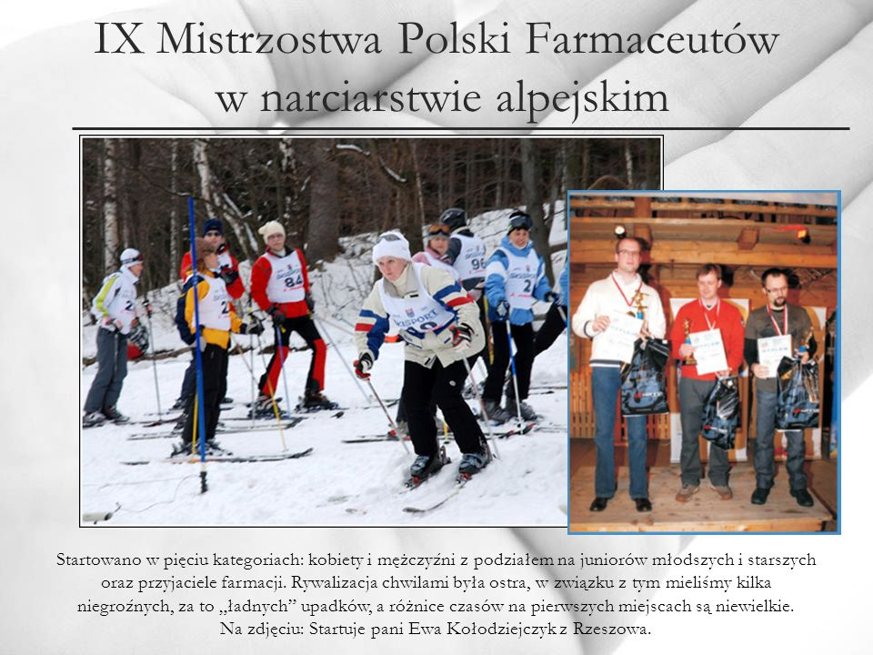 IX Mistrzostwa Polski Farmaceutów w narciarstwie alpejskim