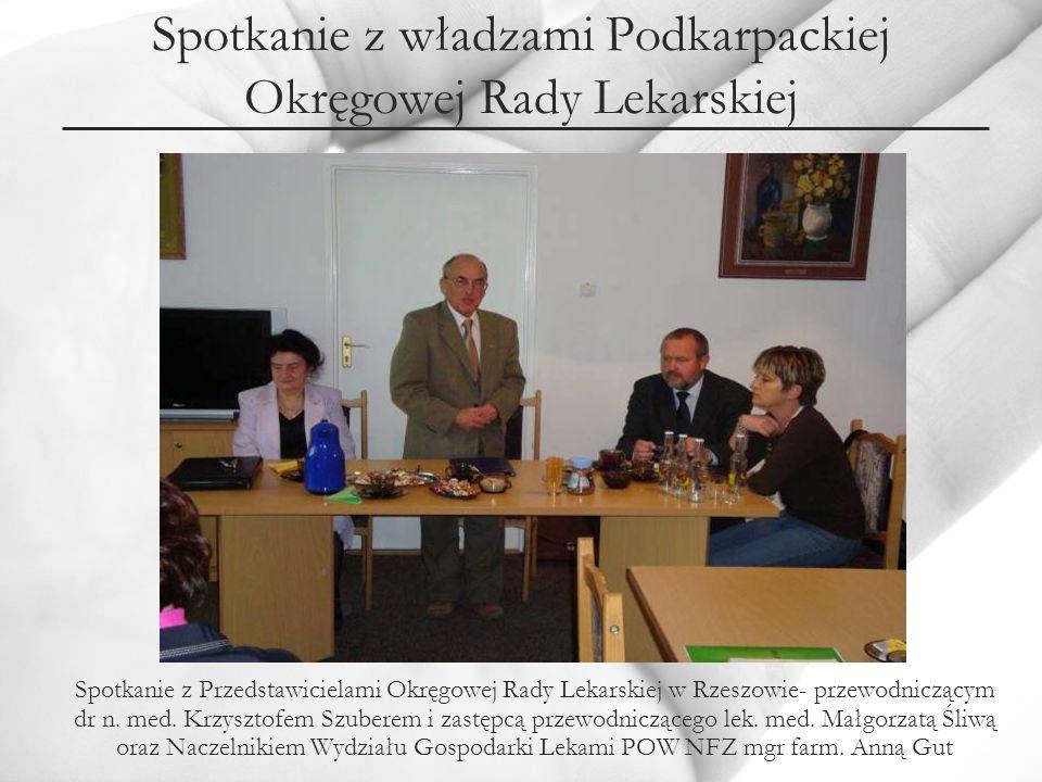 Spotkanie z władzami Podkarpackiej Okręgowej Rady Lekarskiej