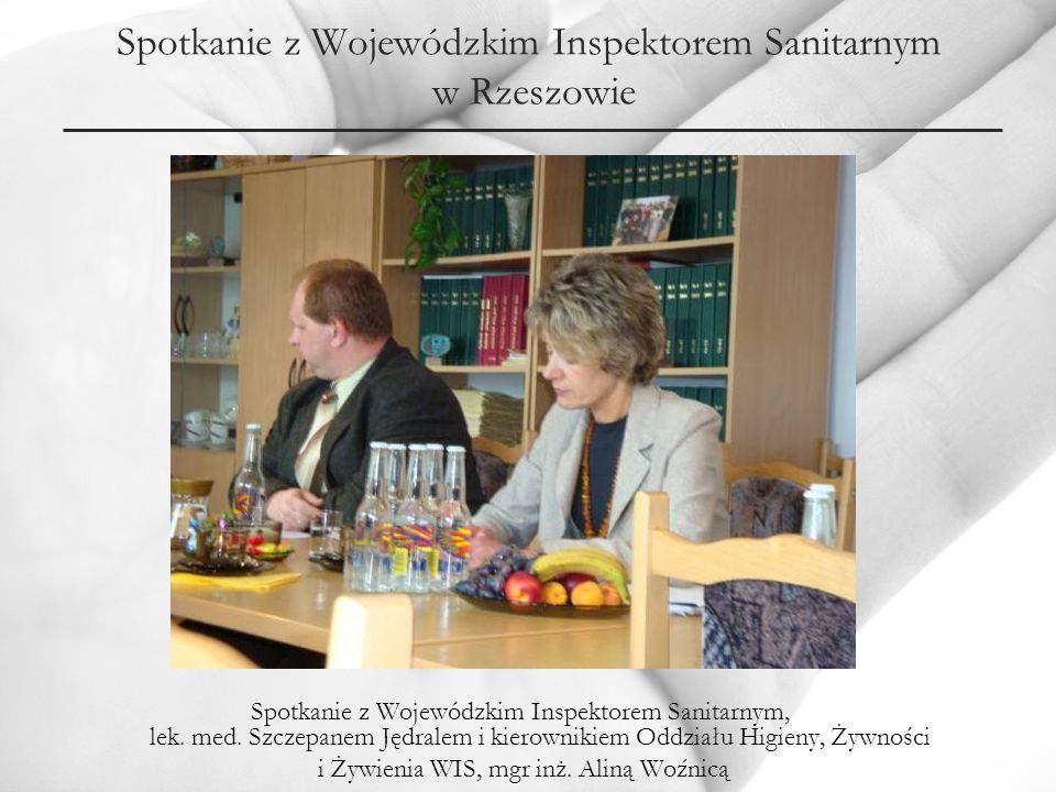 Spotkanie z Wojewódzkim Inspektorem Sanitarnym w Rzeszowie