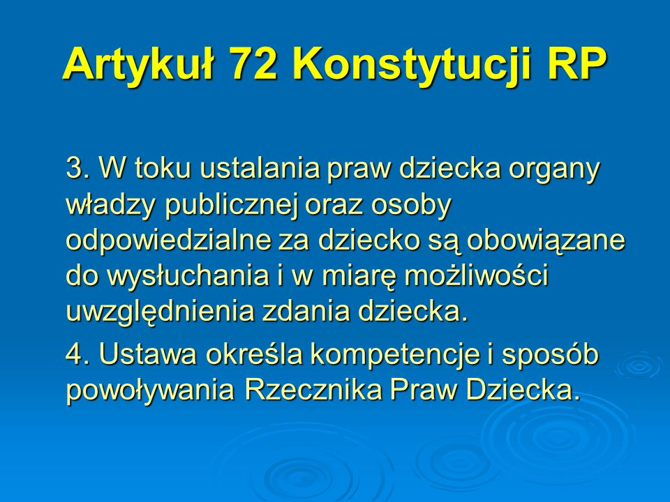 Artykuł 72 Konstytucji RP