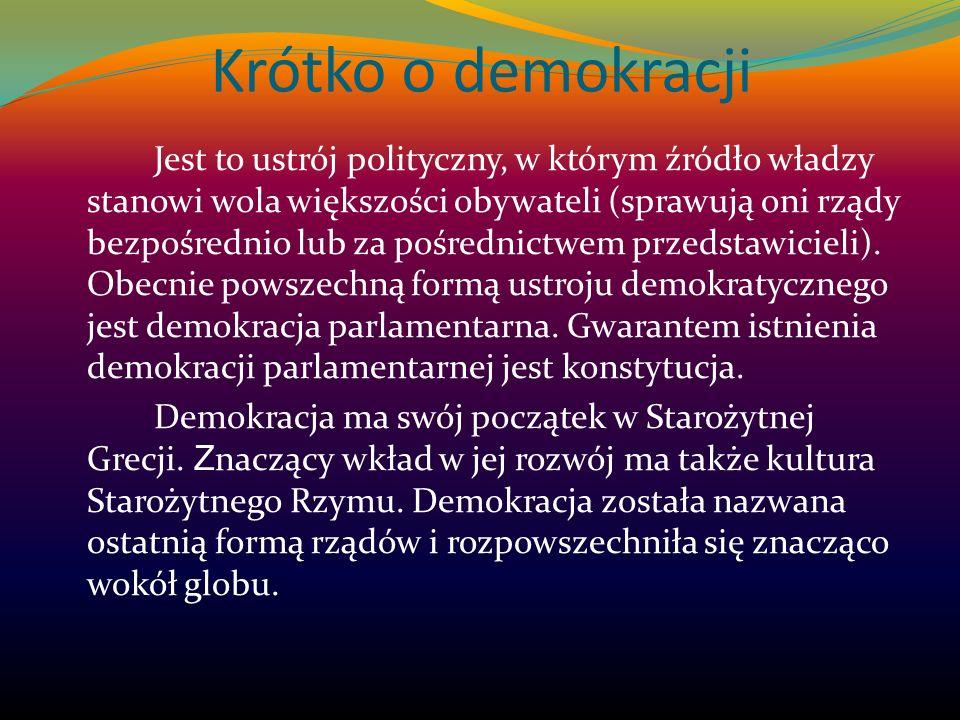 Krótko o demokracji