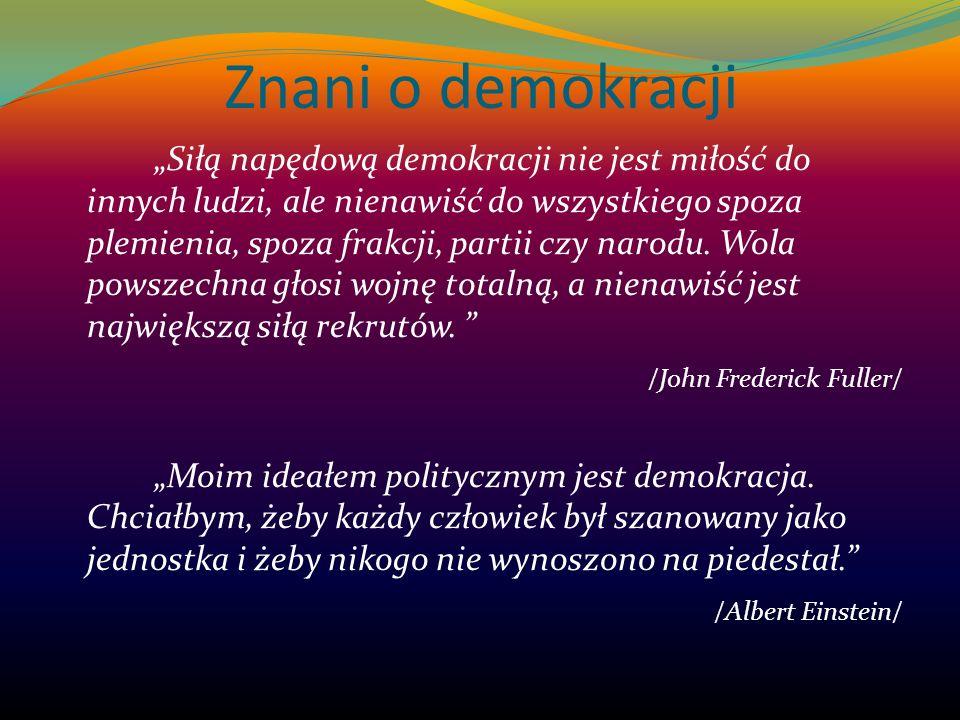 Znani o demokracji