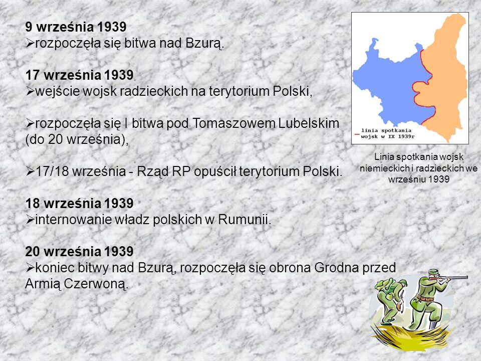 niemieckich i radzieckich we wrześniu 1939