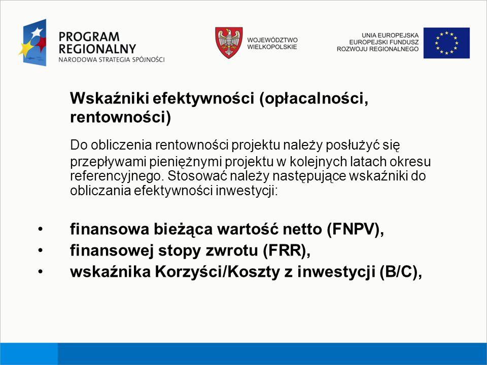 Wskaźniki efektywności (opłacalności, rentowności)