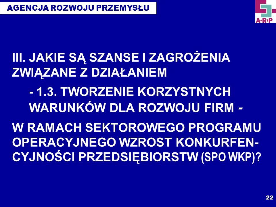 III. JAKIE SĄ SZANSE I ZAGROŻENIA ZWIĄZANE Z DZIAŁANIEM - 1. 3