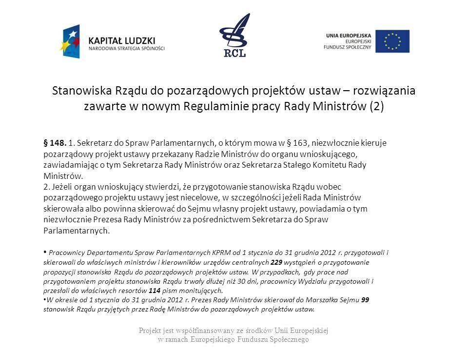 Stanowiska Rządu do pozarządowych projektów ustaw – rozwiązania zawarte w nowym Regulaminie pracy Rady Ministrów (2)