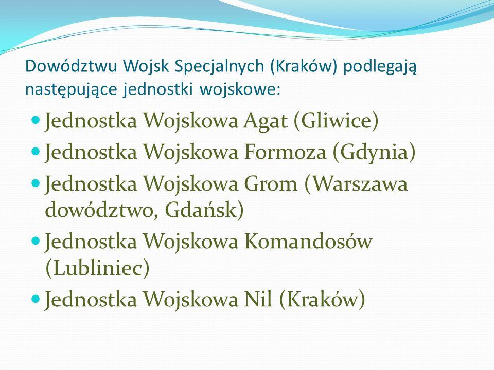 Jednostka Wojskowa Agat (Gliwice) Jednostka Wojskowa Formoza (Gdynia)