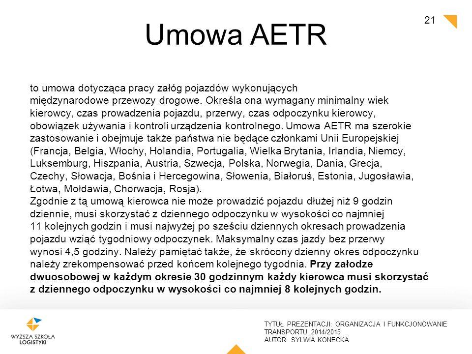Umowa AETR